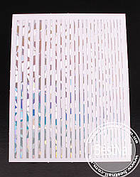 Гибкие ленты для дизайна ногтей ( серебро голографическая)