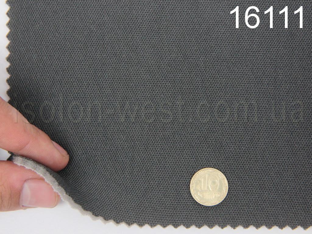 Высококачественный автовелюр (Турция, цвет графит - 16111), на поролоне, тягучий.