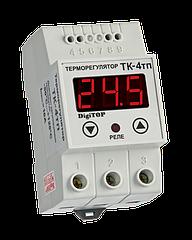 Терморегулятор DigiTOP ТК-4Т (одноканальный, датчик DS18B20) DIN +5°C…+40°C
