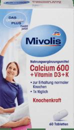 Вітамінний комплекс Calcium 600 + Vitamin D3 + K, Tabletten