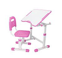 Парта и стульчик  FunDesk для школы Sole II Pink