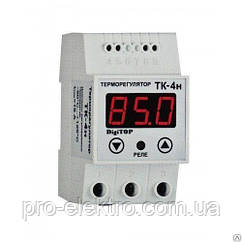 Терморегулятор DigiTOP ТК-4Н (одноканальный, датчик DS18B20) DIN 0°C…+125°C
