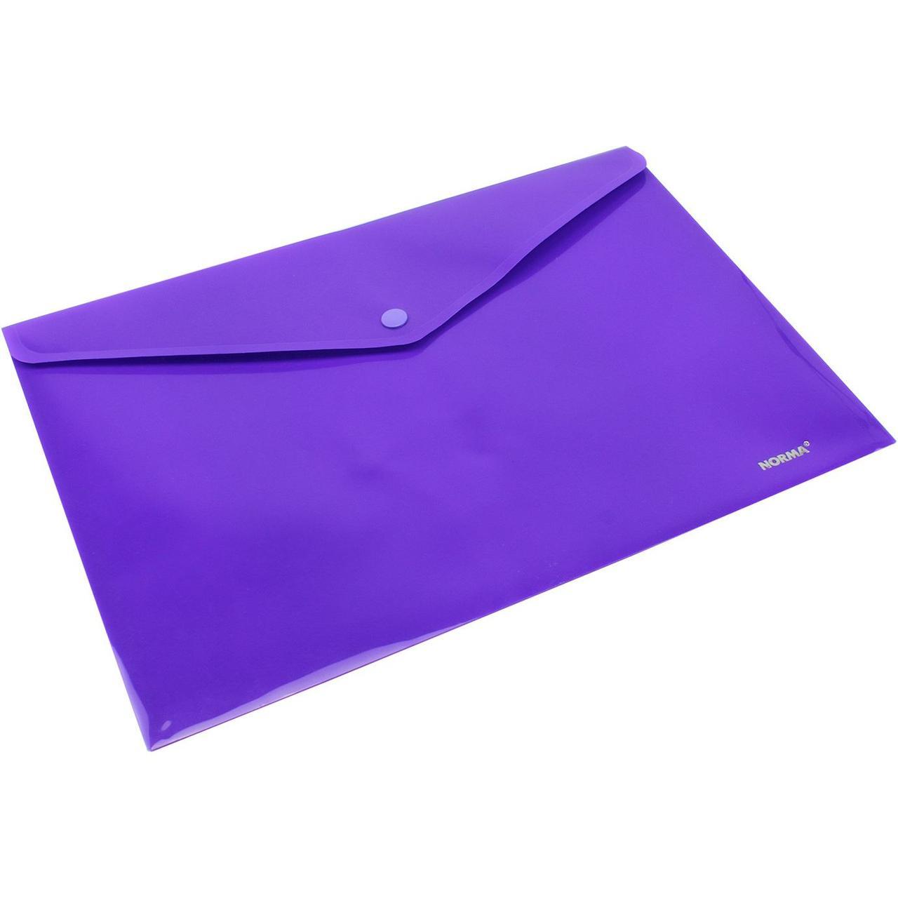 Папка з кнопкою, непрозра, А4, 160 мікрон, фіолетова, 5017, NORMA