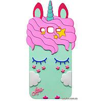 Чехол-накладка TPU 3D Little Unicorn для Samsung Galaxy J7 SM-J700H / J7 Neo SM-J701H Mint
