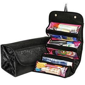 Органайзер для хранения косметики черного цвета | Косметичка Roll N Go Cosmetic Bag