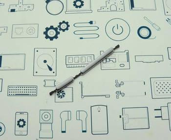 Боковые кнопки Meizu M3s серебро Сервисный оригинал с разборки