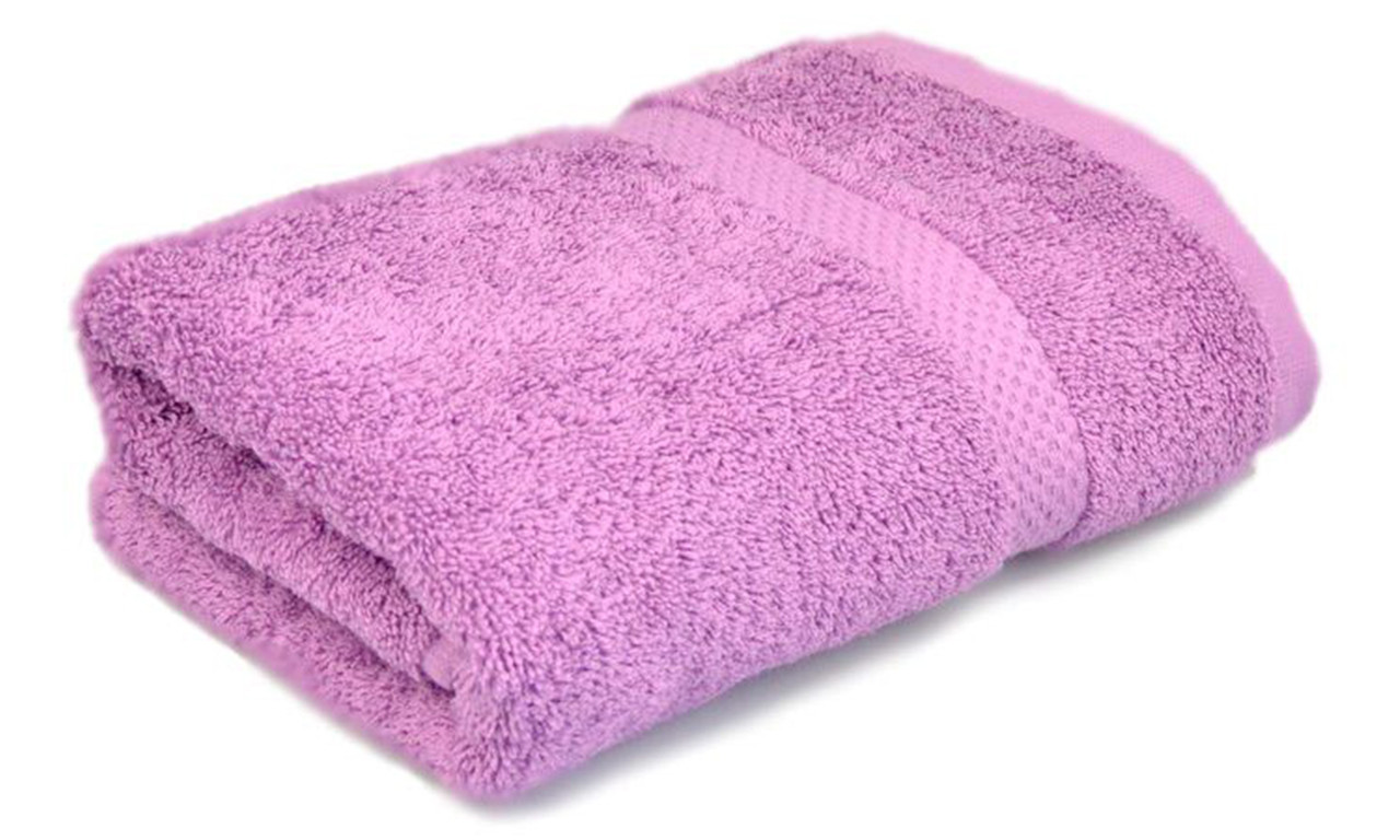 Полотенце махровое, 500гр/м2,  бордюр, 50х90, цвет: сиреневый