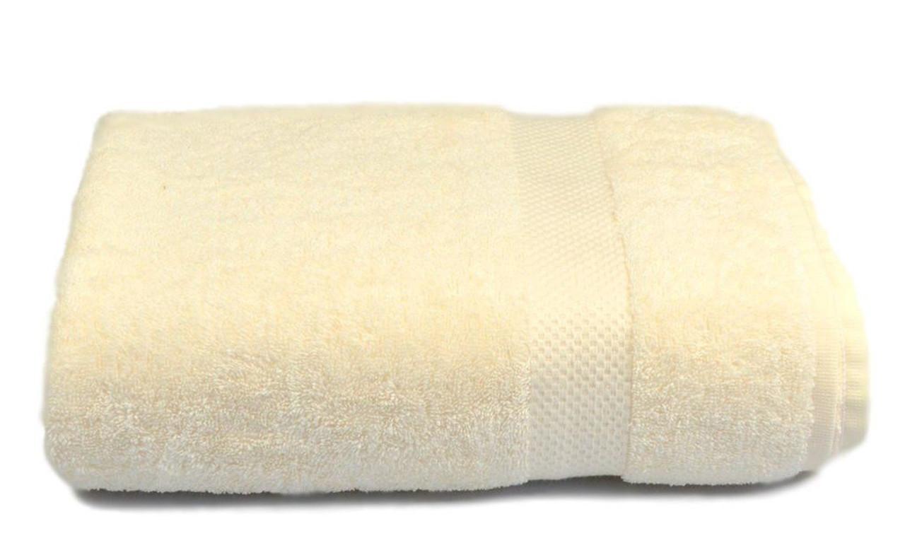 Полотенце махровое, 500гр/м2,  бордюр, 50х90, цвет: кремовый