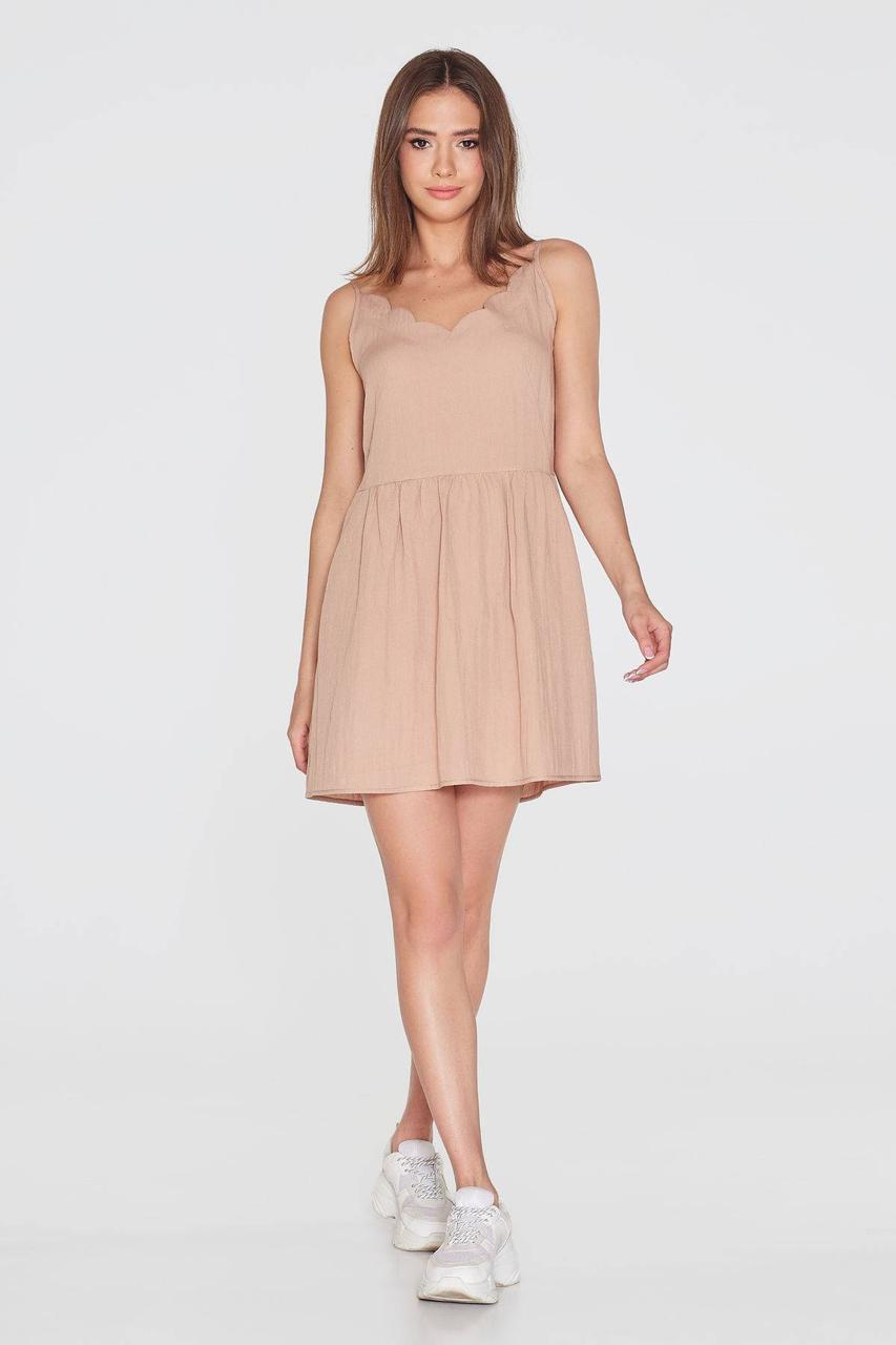 Платье NENKA 771-c01 M Бежевый