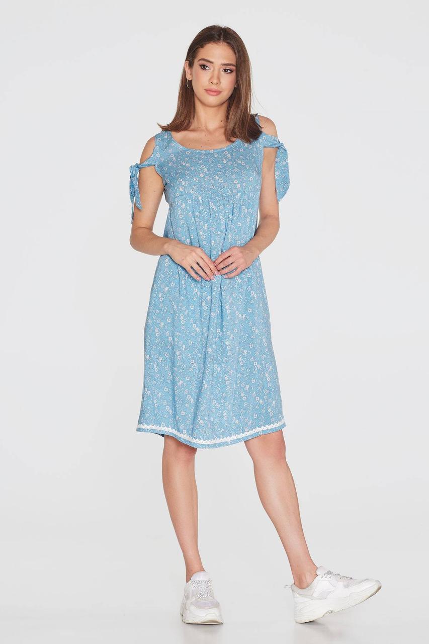 Платье NENKA 774-c01 L Голубой/Принт