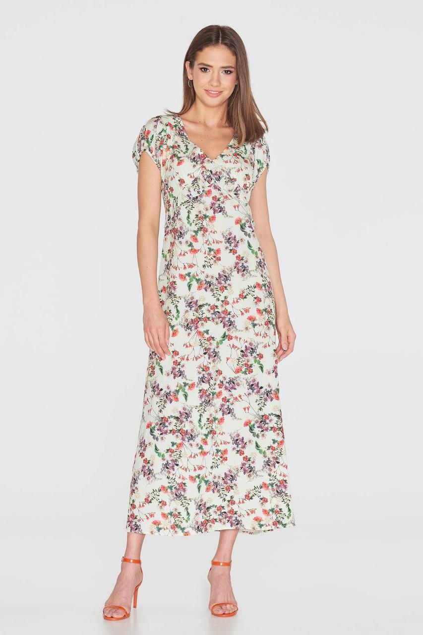 Платье NENKA 780-c01 S Ванильный/Принт