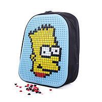Школьный ранец CRM Canta. Рюкзак конструктор с пикселями Барт