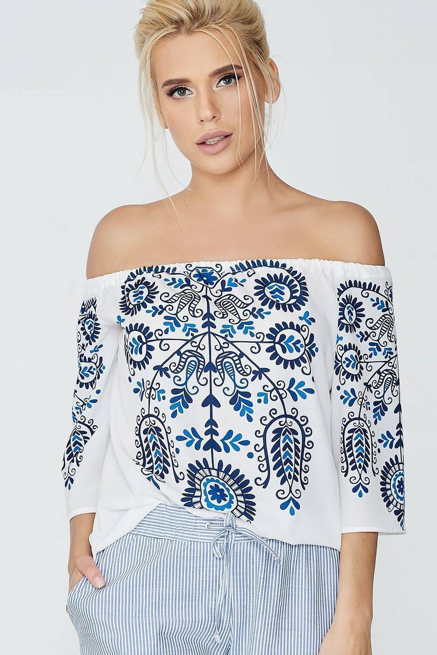 Блуза NENKA 601-c01 S Молочный