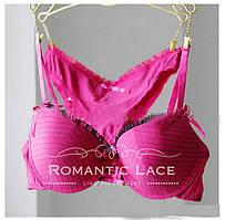 Комплект нижнего белья с декором-оборкой Розовый