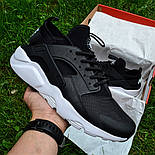 Мужские кроссовки Nike Air Huarache Ultra Black/white черные с белым 36-44рр.. Живое фото (Реплика ААА+), фото 7