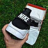 Мужские кроссовки Nike Air Huarache Ultra Black/white черные с белым 36-44рр.. Живое фото (Реплика ААА+), фото 3