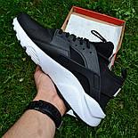 Мужские кроссовки Nike Air Huarache Ultra Black/white черные с белым 36-44рр.. Живое фото (Реплика ААА+), фото 2