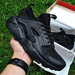 Мужские кроссовки Nike Air Huarache Ultra Black черные летние 41-45рр. Живое фото (Реплика ААА+)
