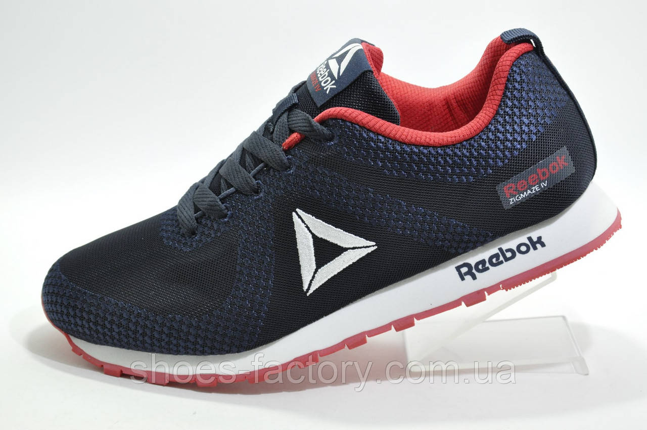 Кроссовки мужские в стиле Reebok Classic Runner Jacquard, Dark blue\Red