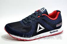 Кроссовки мужские в стиле Reebok Classic Runner Jacquard, Dark blue\Red, фото 2