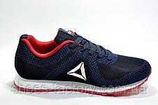 Кроссовки мужские в стиле Reebok Classic Runner Jacquard, Dark blue\Red, фото 3