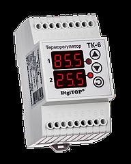 Терморегулятор DigiTOP ТК-6 (двухканальный, датчик DS18B20) DIN –55°C…+125°C