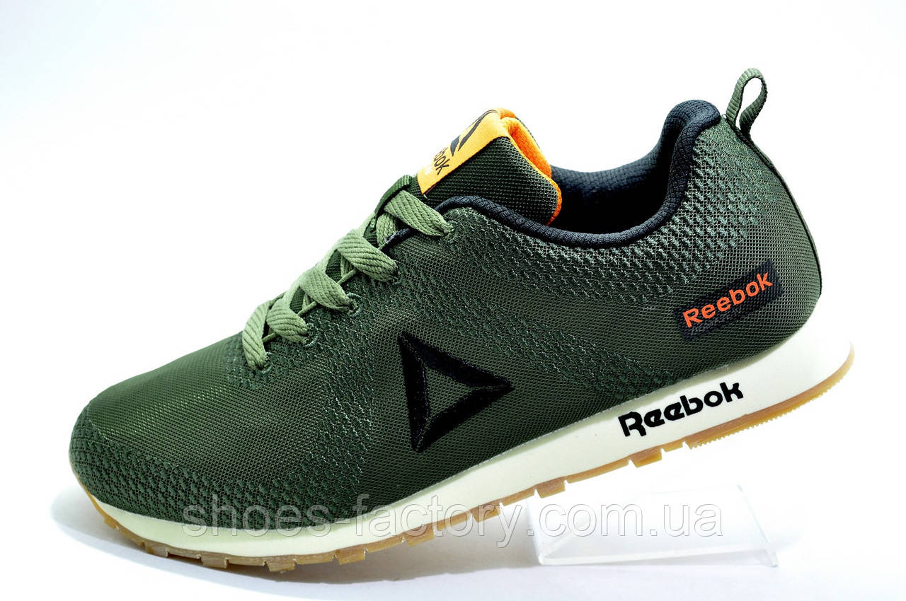 Кроссовки мужские в стиле Reebok Classic Runner Jacquard, Хаки\Green