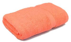Полотенце махровое, 500гр/м2,  бордюр, 70х140, цвет: персиковый