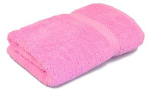 Полотенце махровое, 500гр/м2,  бордюр, 70х140, цвет: розовый