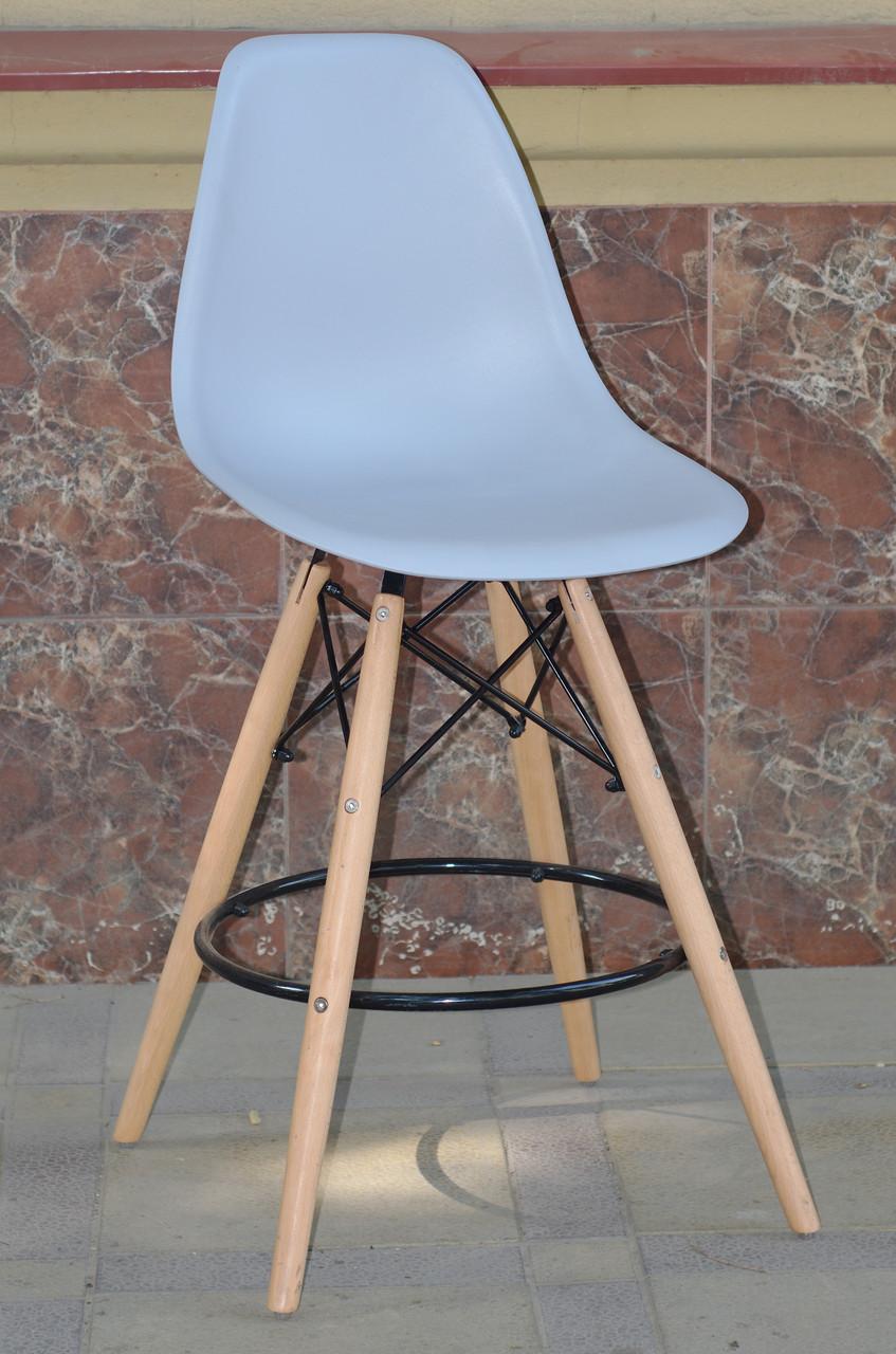 Полубарный стул Nik Eames, серый