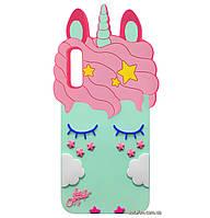 Чехол-накладка TPU 3D Little Unicorn для Samsung Galaxy A50 (2019) SM-A505F Mint