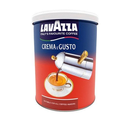 Кофе молотый Lavazza Crema e Gusto Classico 250гр., ж/б, Лавацца Оригинал Италия!