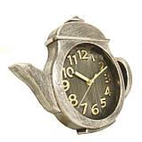 """Настенные кварцевые  кухонные часы """"Чайник"""". Большие и маленькие. Цвет - бронза и серебро., фото 4"""