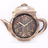 """Настенные кварцевые  кухонные часы """"Чайник"""". Большие и маленькие. Цвет - бронза и серебро., фото 7"""