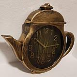 """Настенные кварцевые  кухонные часы """"Чайник"""". Большие и маленькие. Цвет - бронза и серебро., фото 9"""