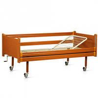 Кровать медицинская  деревянная  функциональная двухсекционная (одна секция металлическая) OSD-93