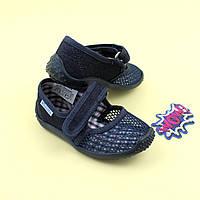 Тапочки в садик на мальчика текстильная обувь Vitaliya Виталия Украина, размеры 23