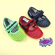 Тапочки в садик для мальчика текстильная обувь тм Виталия Украина размеры 23, фото 3