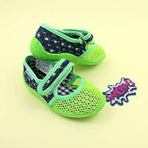 Тапочки в садик для мальчика текстильная обувь тм Виталия Украина размеры 23, фото 2