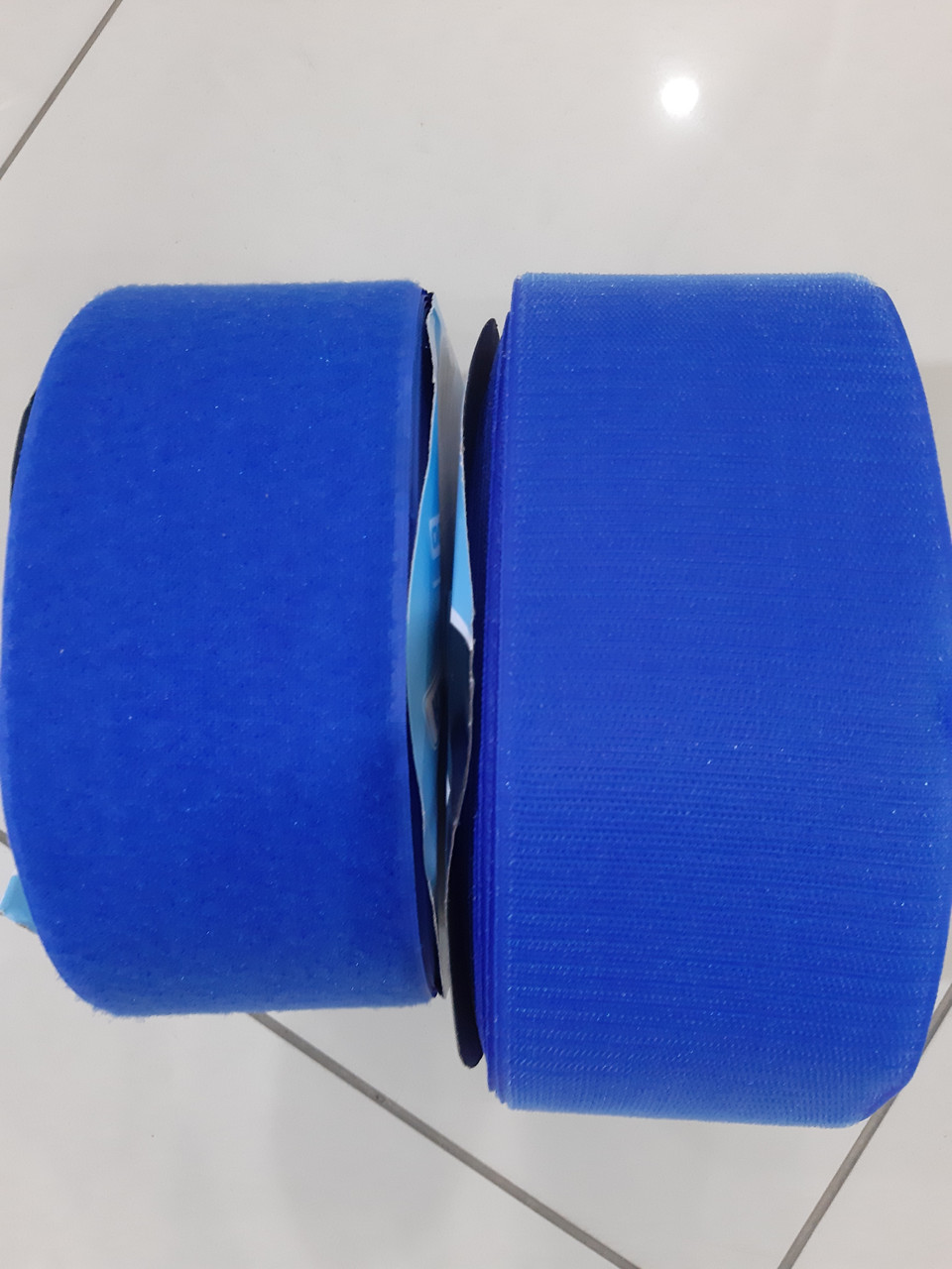 Текстильная застежка (липучка) цвет синий яркий  S-115  100мм (боб 25м)  Veritas