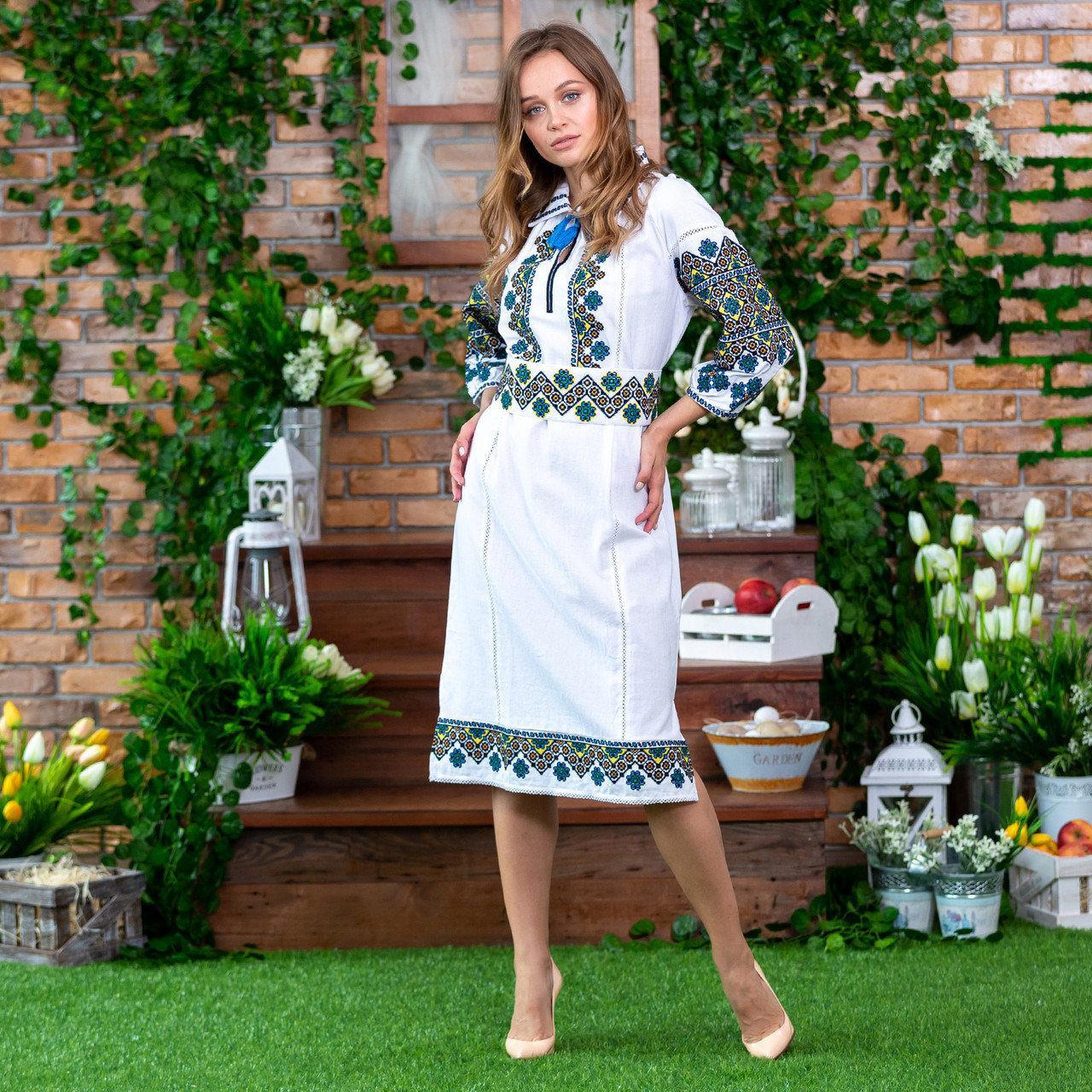 Этническое женское платье с вышивкой Украиночка