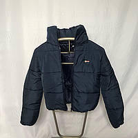 Синяя теплая куртка с капюшоном, размеры 42 - 48