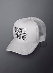 Спортивная кепка Palace, Палас, тракер, летняя кепка, мужская, женская, белого цвета, копия