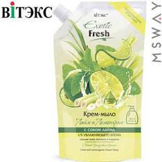 Витэкс - Exotic Fresh Жидкое крем-мыло 750ml Дой-пак Лайм и лемонграсс