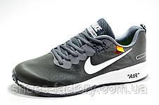 Мужские кроссовки в стиле Nike Air Zoom Shields X OFF-WHITE, Gray\Серые, фото 3