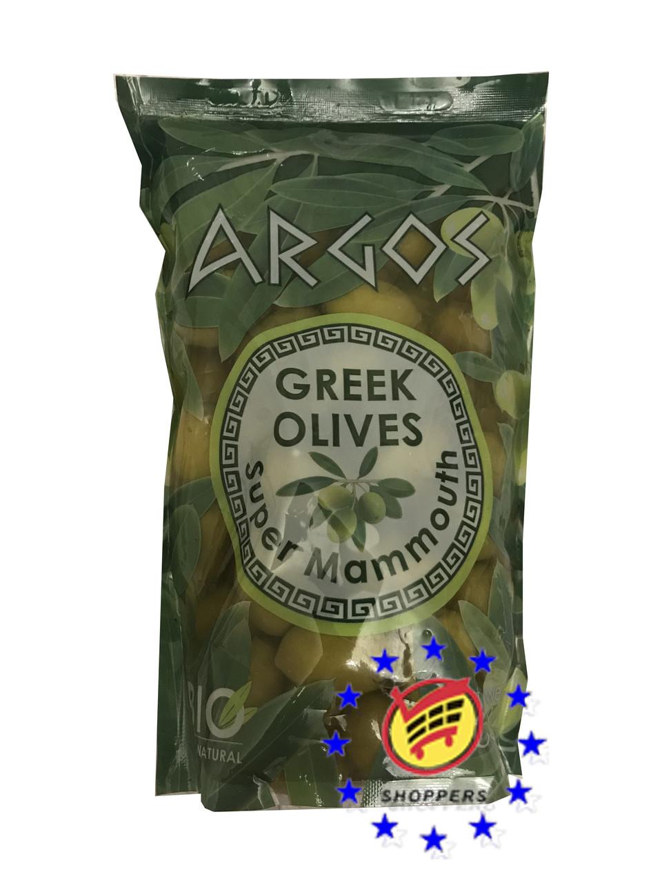 Оливки зелёные гигантские с косточкой 900г