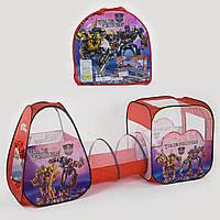Детская Палатка с туннелем Трансформеры 8015 TF, в сумке