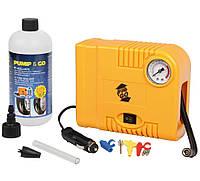 Оригинальный автомобильный компрессор Pump&Go (Италия) + балон герметика (ремонтный комплект), фото 1