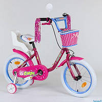"""Детский двухколесный велосипед 16"""" SW-17,розовый, фото 1"""