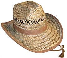 Шляпа соломенная Ковбойка из тонкой соломки